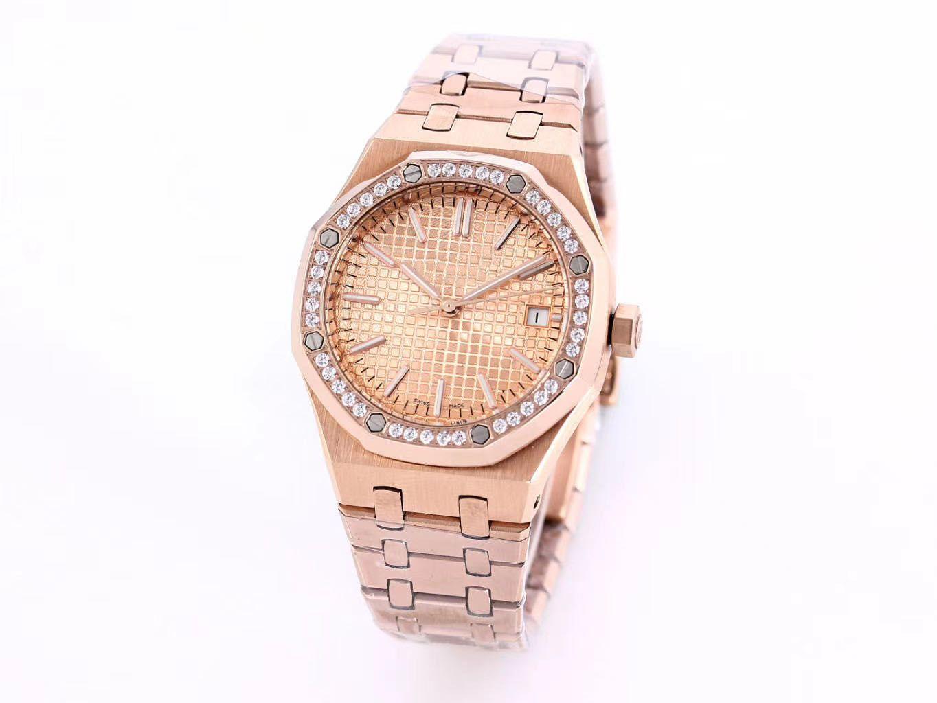 Роскошные механические часы 37 мм матовый материал, сверло кольцо, автоматическое механическое движение, классические трехгольные женские механические часы