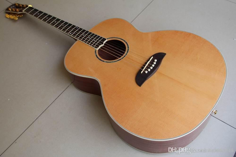 Vente en gros Nouveau 42 # Yairi DY57 Guitare acoustique Baritone Guitare acoustique en Natural 120508