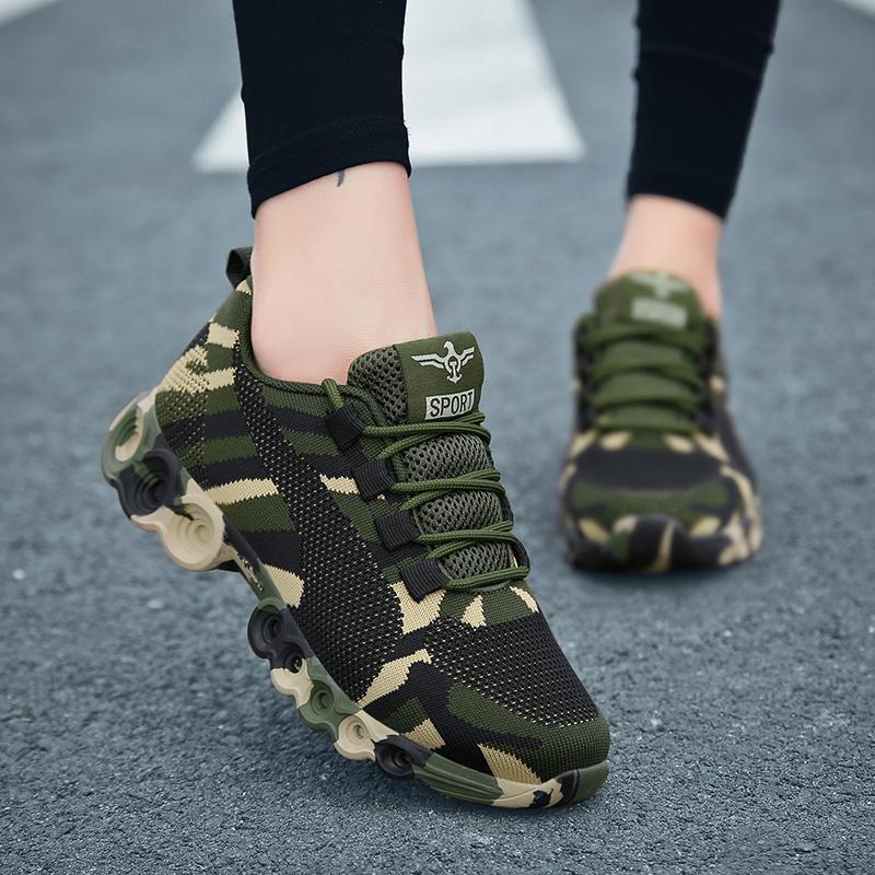 Camouflage Fashion Sneakers Women
