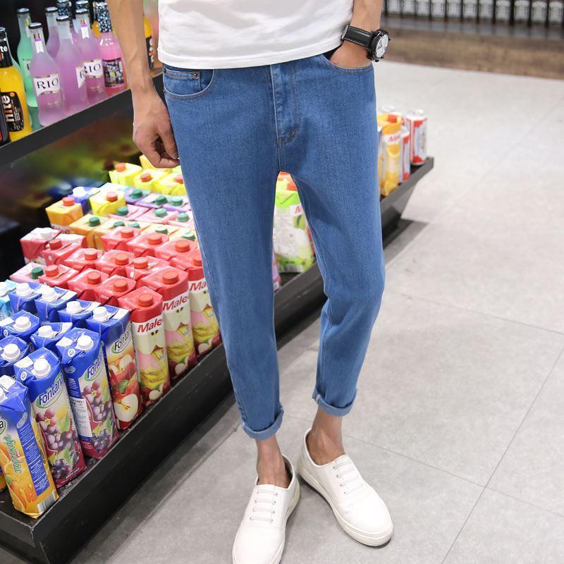 Top qualité 2020 Mode jeans sarouel Casual blue jeans hombre adolescents loose streetwear denim hommes pantalons longueur cheville