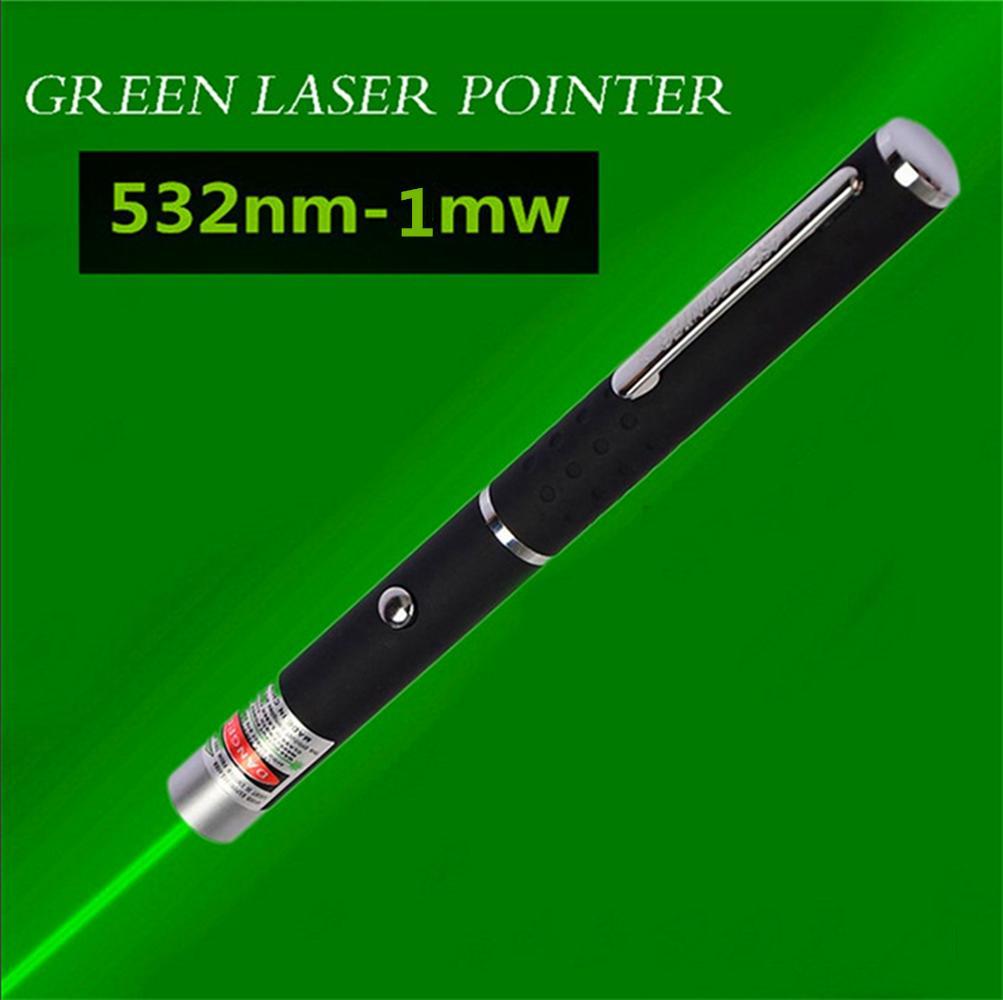 Juguete del gato 10 millas láser verde indicador de la pluma de 1 MW láser verde de alta potencia 532nm Lazer Visible Light Beam