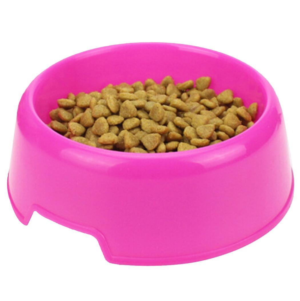 1pc Emniyet Düz renk Çok Amaçlı Plastik Kedi Köpek Kaseler Su Gıda Köpek Feeder'ı Besleme