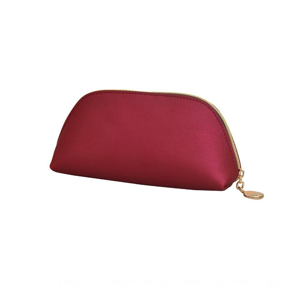 Korean style new pearl Pearl shell cosmetic hand large capacity waterproof wash bag high-grade Pu cosmetic bag TlEms