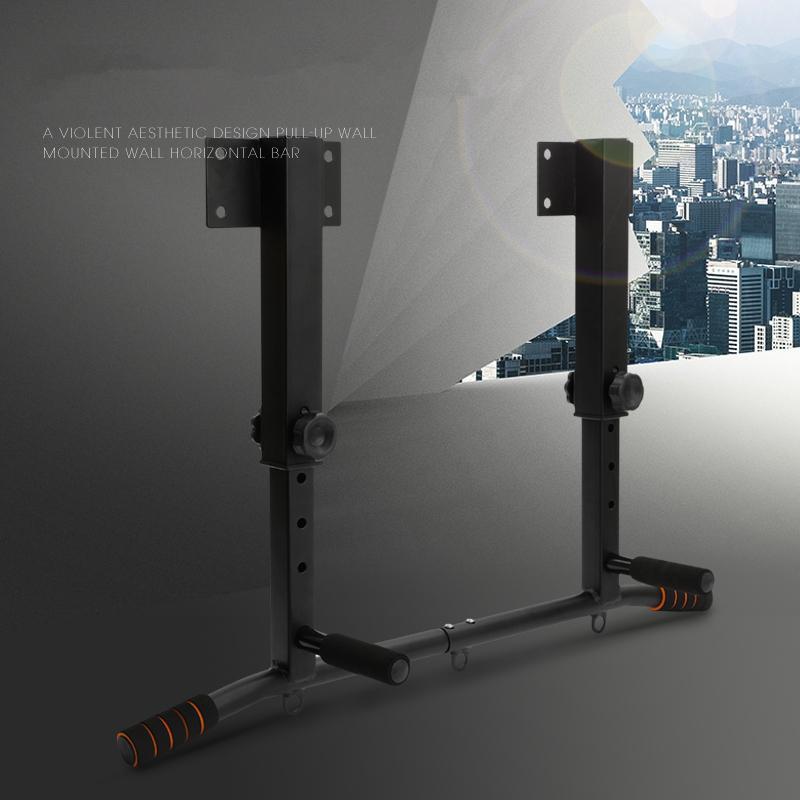 Ajustável montado na parede de Fitness Horizontal Bar Multi-funcional Chin Up Bares Home Gym Workout Pull-up Quadro Dispositivo