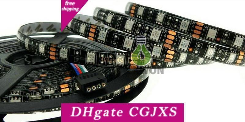 Black Pcb Board 5050 Led Strip Warm White White Rgb Led Strip 5050 Ip65 Waterproof Dc12v 300 Leds 60led M Flexible Led Tape