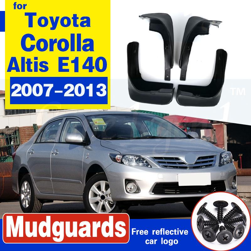 Für Toyota Corolla Altis E140 2007-2013 Schmutzfänger Schmutzfänger Schmutzfänger vorn hinten Kotflügel Fender 2008 2009 2010 Mud Flaps