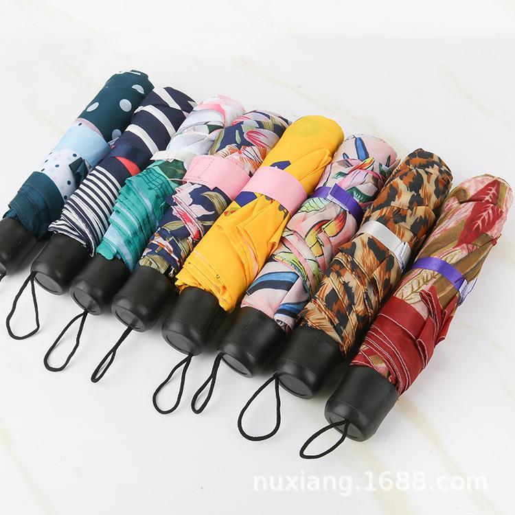 Малой Мода складного зонтика дождь Женщины подарки Мужчины Карманная мини Зонтик Девушка Anti-UV водонепроницаемых портативное путешествие ЗОНТЫ