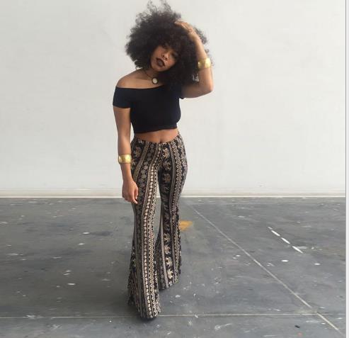 Tasarımcı Flare Düzenli Tam Boy Moda Gevşek Gece Kulübü Stil Uzun Pantolon Kadın Gündelik Giyim Bohemian Bayan Yaz