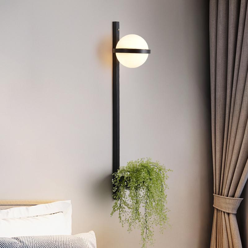 Artpad Nordic LED Гостиная Бра Современная Спальня прикроватный Домашнее украшение светильники Стеклянные лампы Форма завод Свет