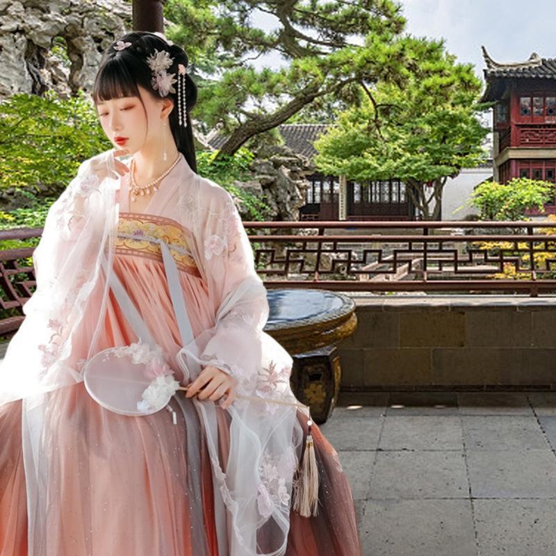 yUdQo vestido Qingying Coxrt verão estilo chinês saia de fadas de mulheres elegantes longo traje antigo traje de super fadas antigo saia