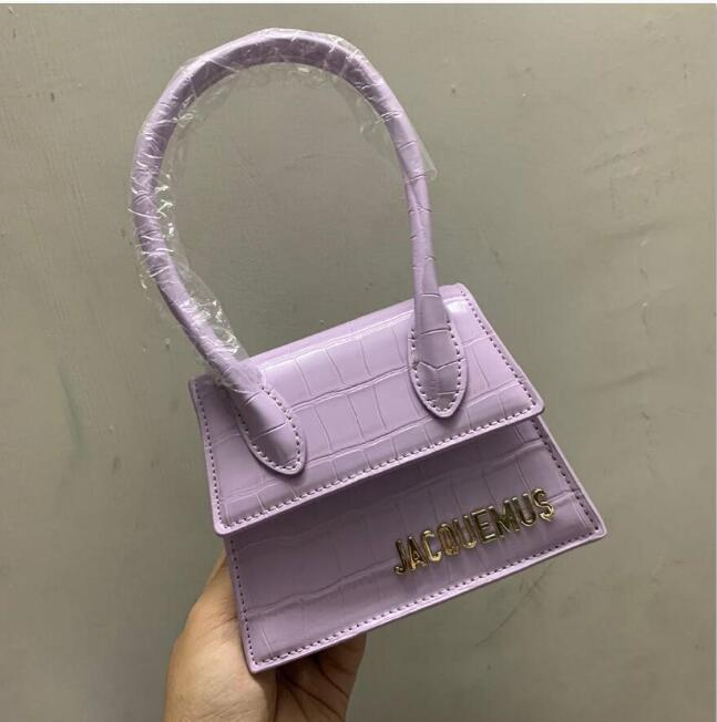2020new leather luggage tag red fashion show crocodile pattern small bag wild small bag shoulder slung portable decorative bag purse hook