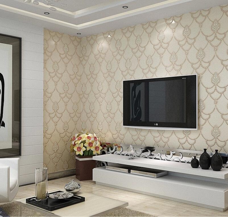 Semplice Vintage europei non tessuto damascato sfondi goffratura ambientale decorazione della parete 3D Texture Wallpaper decorazione domestica