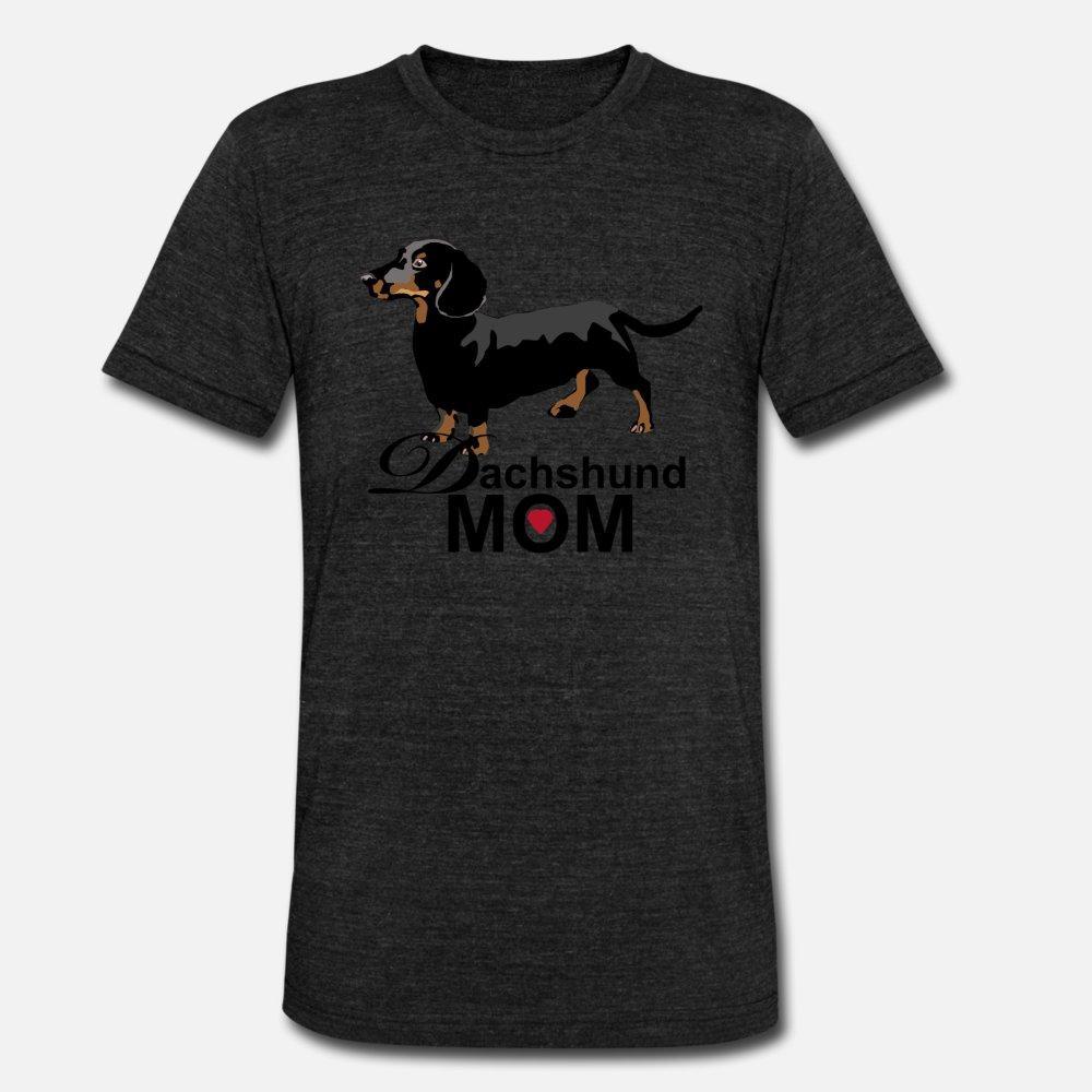 Teckel Maman T-shirt des hommes d'impression 100% coton Taille plus 3XL Kawaii célèbre style de base d'été Kawaii T-shirt