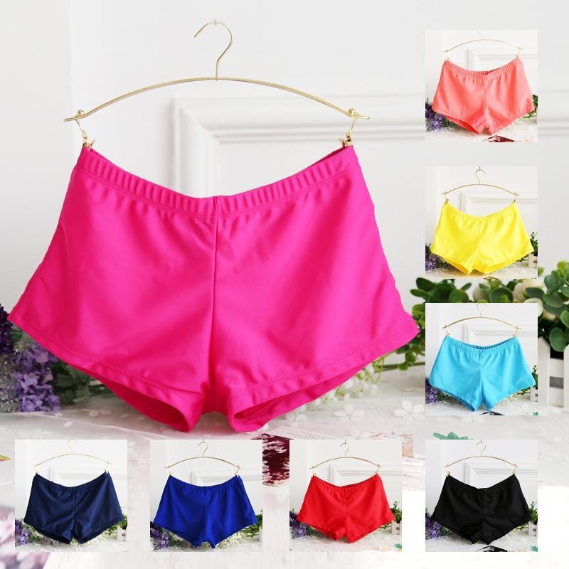 dnnlC Горячей весны купальника женских плавки женщин размера плюс узких брюки Swimsuit плавок боксера шорты анти-экспонирование плавания боксер нога