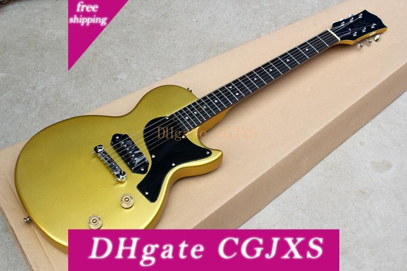 Oro Negro guitarra eléctrica con el golpeador, palisandro, pastillas P90, Chrome hardwares, ofreciendo servicios personalizados