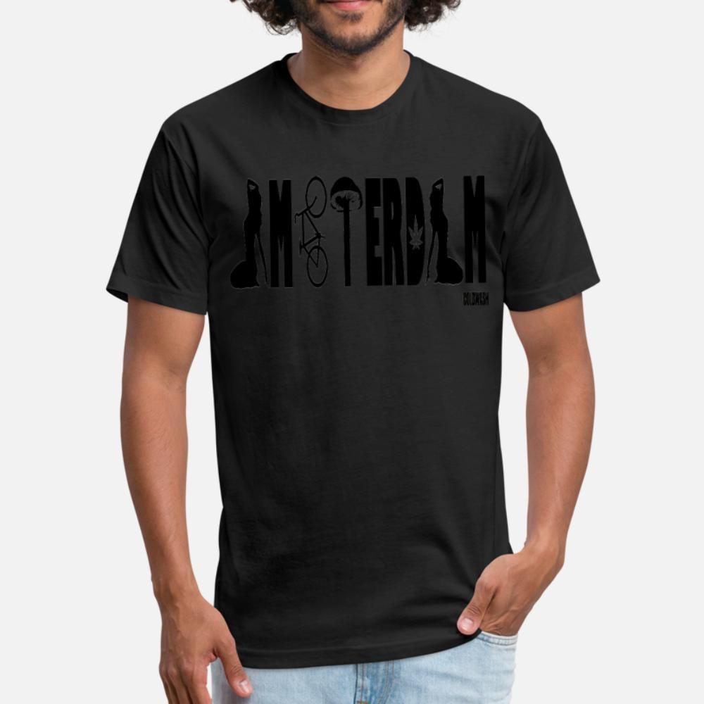Amsterdam camiseta homens personalizado de manga curta plus size 3xl forma frouxa camisa Formal Primavera Vintage