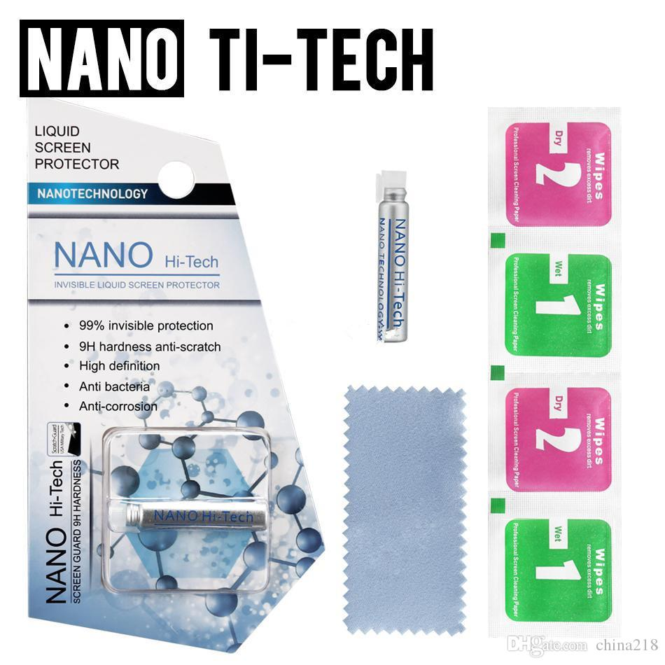 1ML Líquido Nano Tecnologia protetor de tela 3D aresta curvada anti zero vidro temperado Film Para i x 7 8 Plus Samsung S8 Plus-4