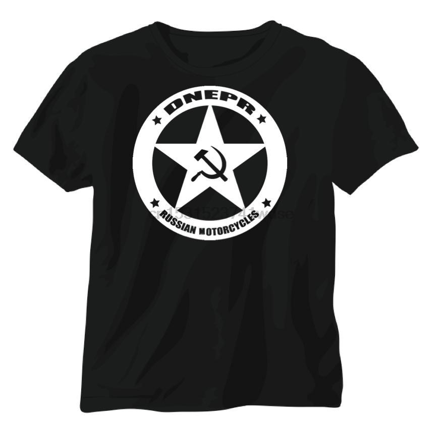 Dniepr russe Sidecar Vintage militaire de moto Moto T-shirt à manches courtes 2020 Mode noir 100% coton Casual T-shirt