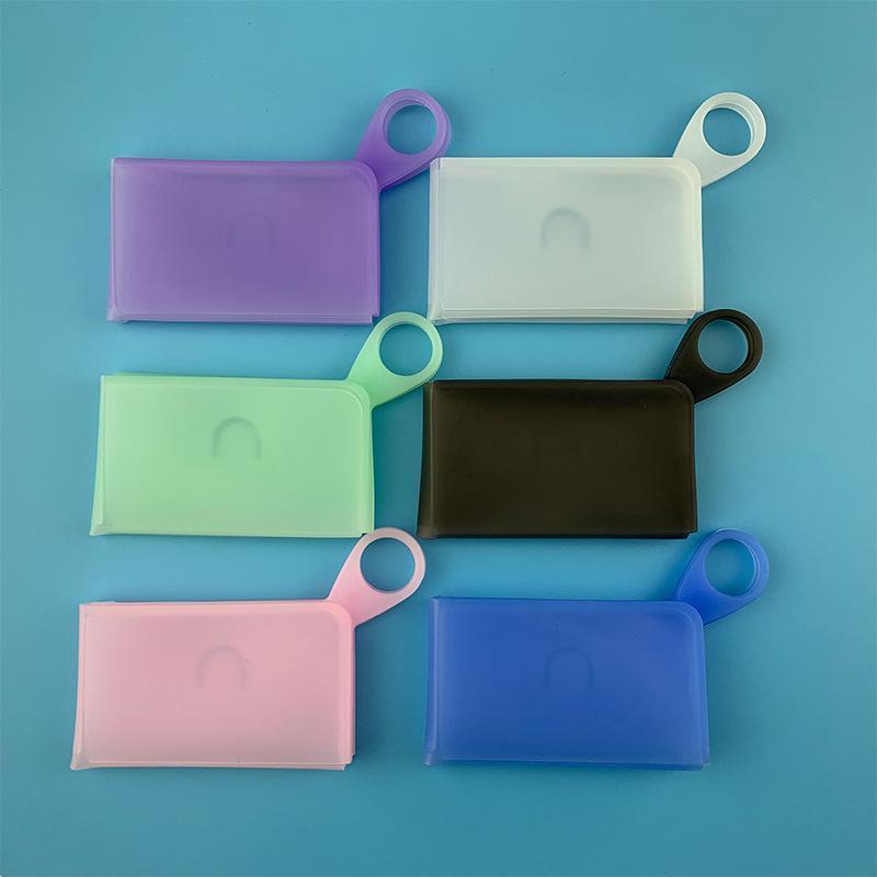 Silicone portáteis máscara descartável cara Container Máscaras armazenamento caso Box contra pó cor sólida estudante de criança Chegada Nova 3 5 centímetros D2