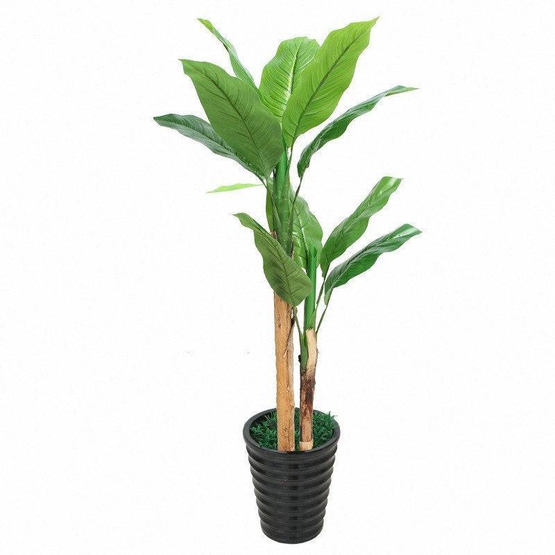 ev Sahte servet ağaç büyük muz ağacı yapay bitkiler saksı XUok # ile dekorasyon bonsai plastik çiçekler yapay bitkiler