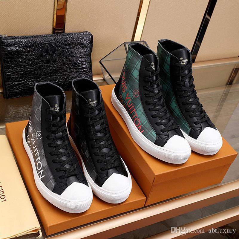 Nueva Nueva Shaspet de lujo para hombre de los zapatos de moda de cuero botas del tobillo con cordones de la zapatilla de deporte de arranque tatuaje Chaussures Pour Hommes Hombres Casual Zapatos Botas Sa