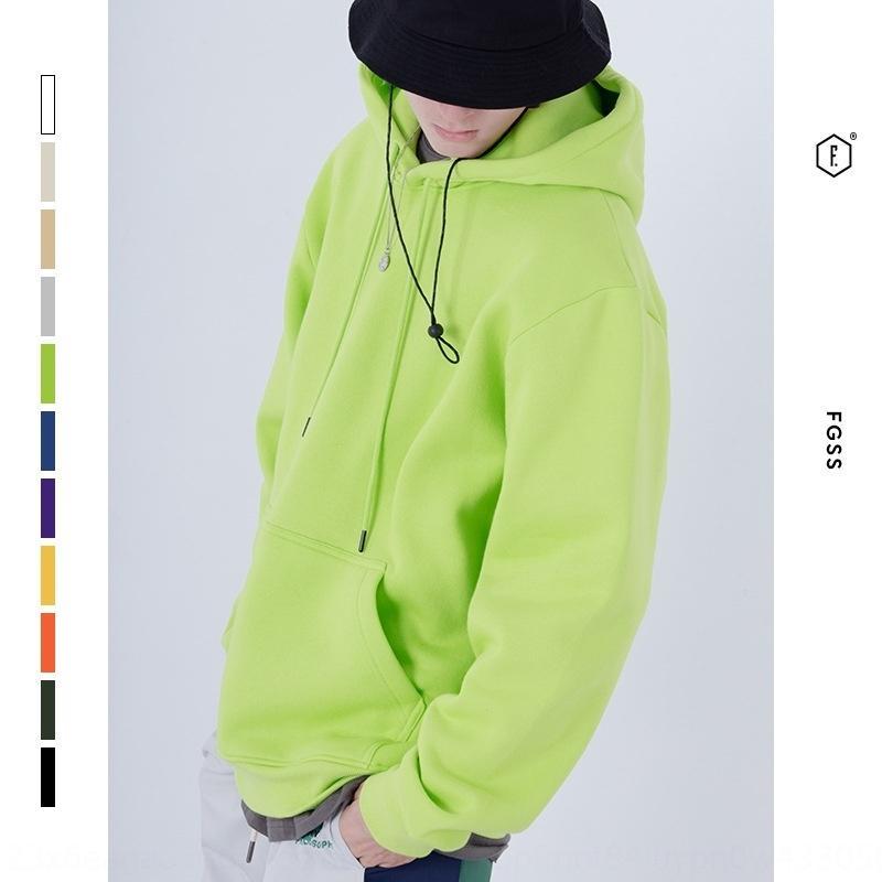 LDQGG свитер мужской FGSS sweaterclothing толстый 350G осень твердый зимний основной толчок и цвет флиса thickenedshoulder мужской свитер с капюшоном Wfx