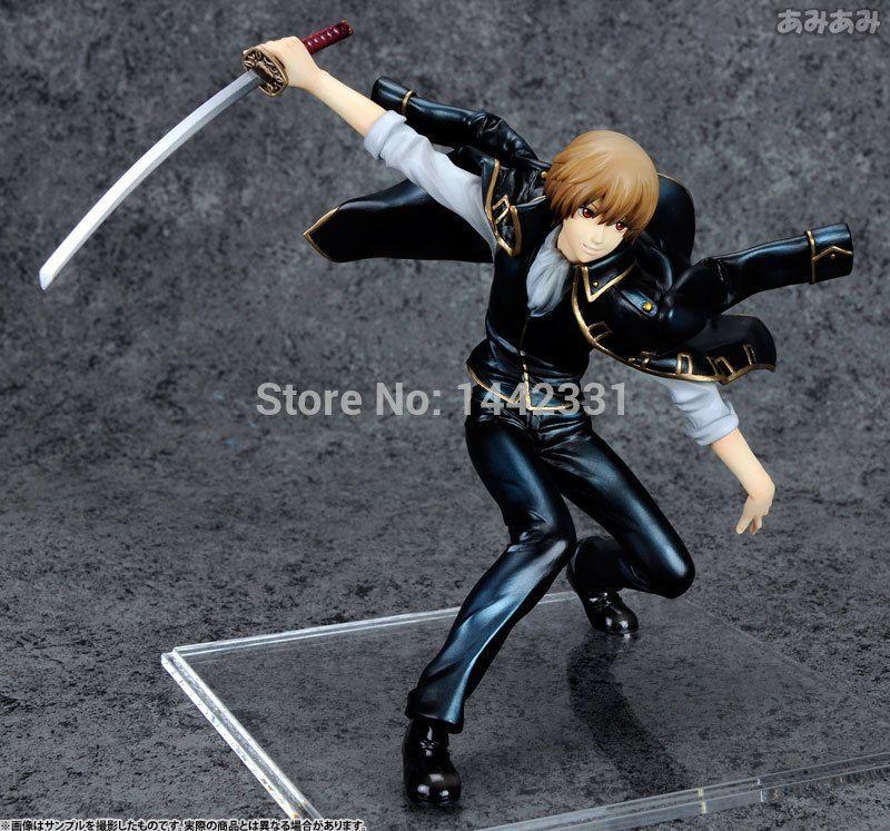 16cm MegaHouse Silver Soul Gin Tama Gintama Okita Sougo Sakata Gintoki Toys PVC Action Figure Anime Brinquedos T200824