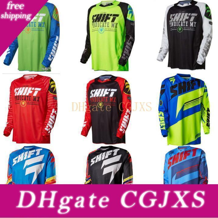 New American Maj Downhill Costume Jersey Vêtements Hommes S T -Shirt Riding long -Sleeved VTT Off -Road Vêtements moto