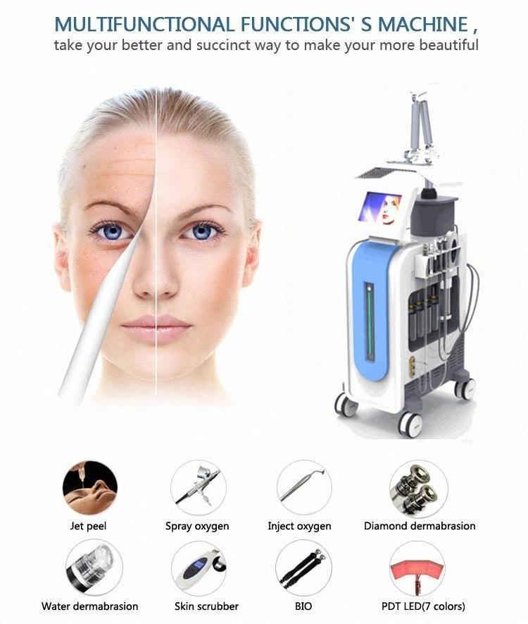 Hydrafacial Hydro Dermabrasion Wasser Dermabrasion Sauerstoff Jet Peeling PDT LED BIO Lichttherapie Hydra Facial Maschine für Haut Rejuvenat cLxO #