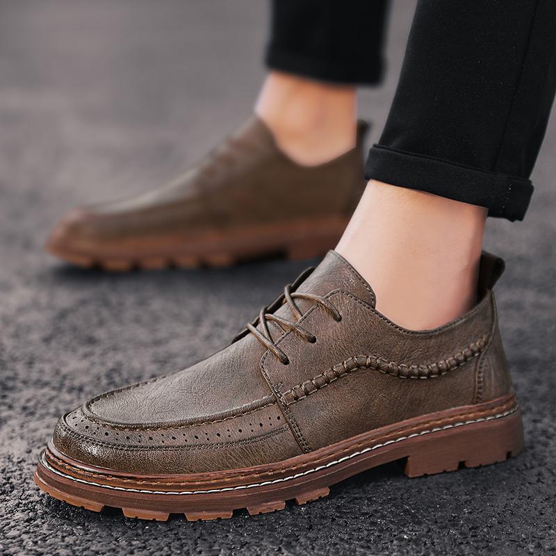 hommes en cuir chaussures occasionnels dentelle appartements robe imperméable jusqu'à chaussures homme pour oxford travail des hommes respirant haute qualité des hommes en bateau