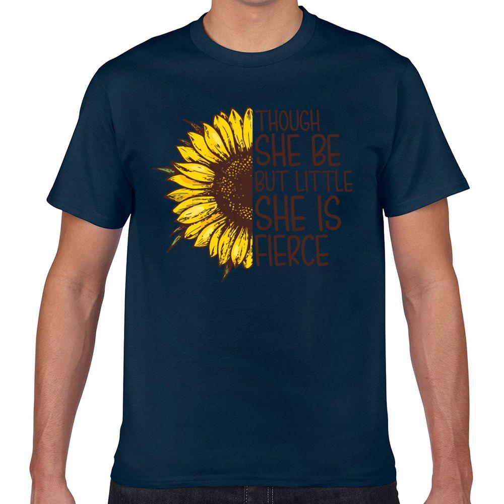 Tops T-Shirt Männer Obwohl Sie ist aber wenig ist sie heftig Lustige Design Schwarze Aussenseiter Kurz Male T-Shirt Xxx