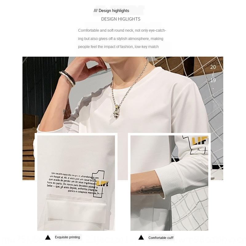 d63AV Duan Lang Männer neuer Top Pullover Unterhos Pullover Herbst Langarm-Herren-Basis-Shirt Rundhals Korean Casual Student oben