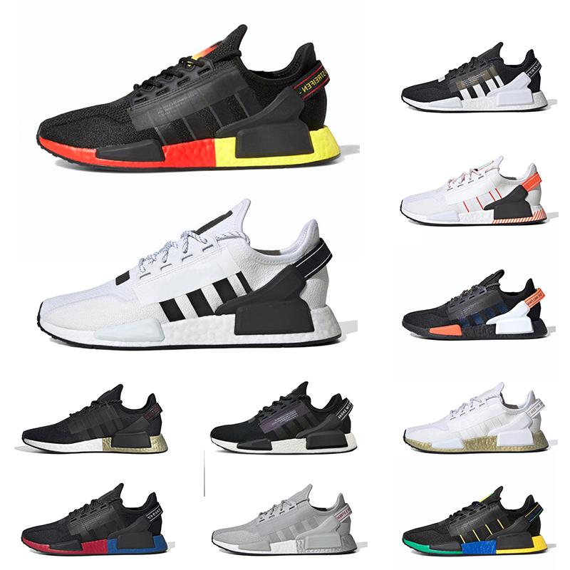 NMD R1 V2 Mens Entraîneurs Running Shoes Munich Core Blanc Noir Mexico City OG Classique Hommes Femmes Sports Sneakers Taille 36-45