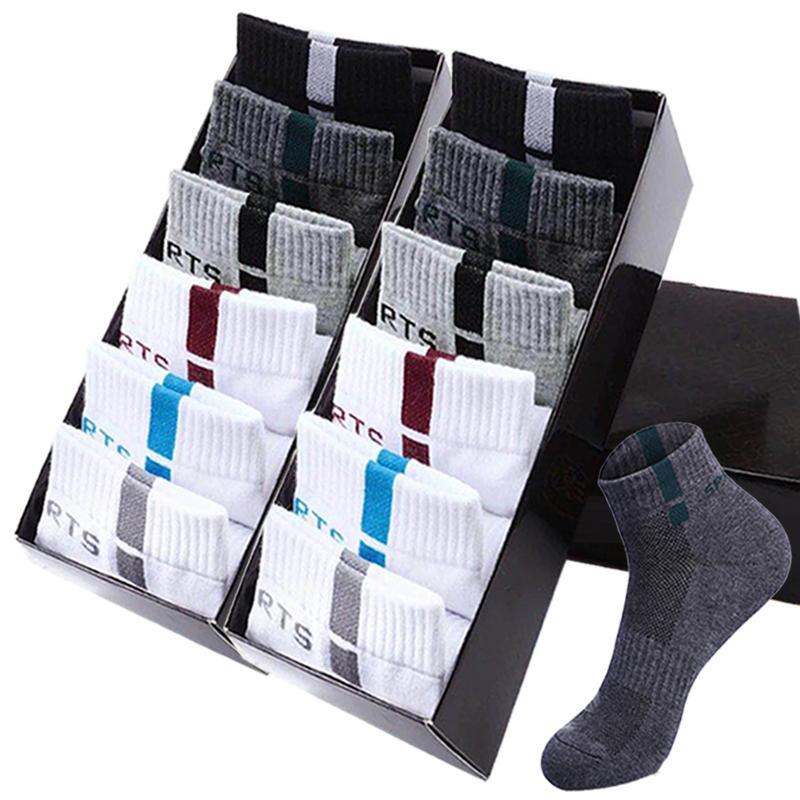 10 paires de haute qualité en coton Chaussettes hommes Chaussettes de sport d'été entreprise de mode noir blanc maille respirante Robe Homme Homme