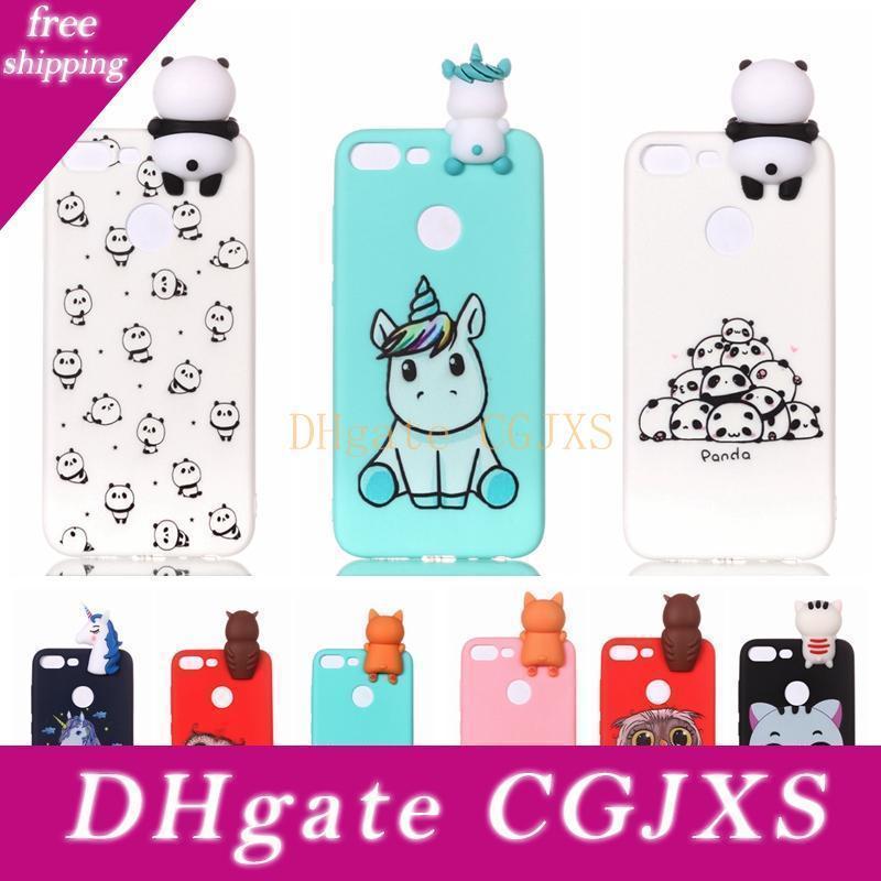 3d Симпатичные случаи Panda Сова Cat Diy для Huawei Honor 9 Lite P Смарт P10 P20 Lite Mate 10 P9 Lite Nova3i