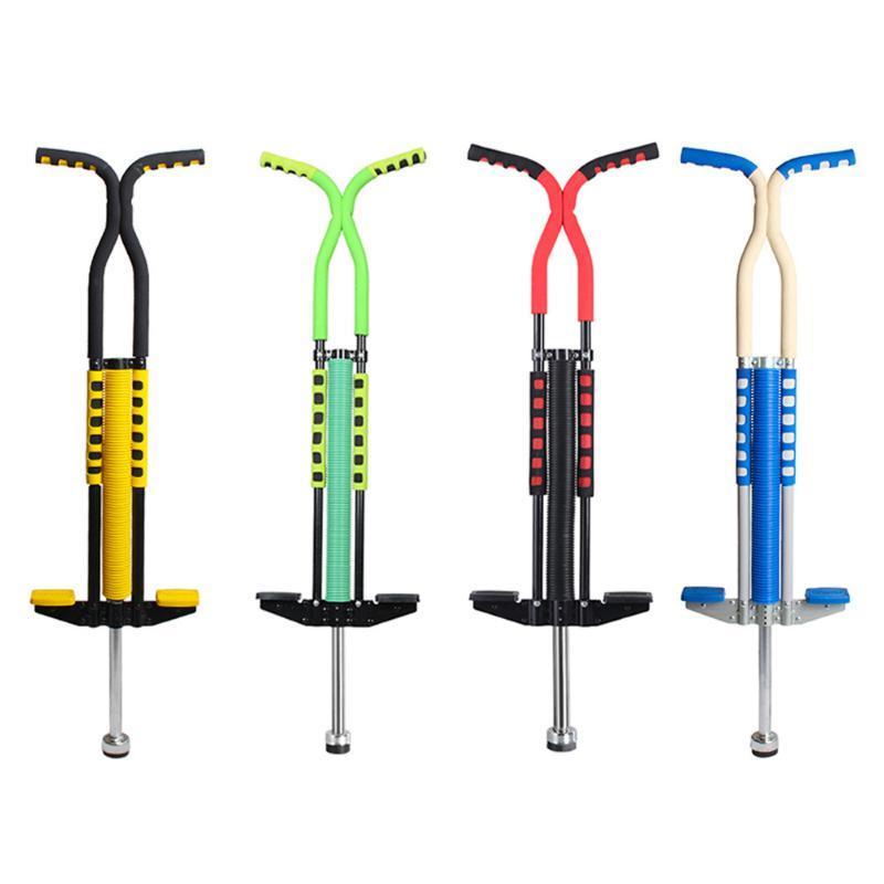 Adultes / enfants Pogo Bâton Saut Échasses Jumper Air Kicks Boing extérieur Musculation Chaussures Saut Kangourou Gym Sport exercice
