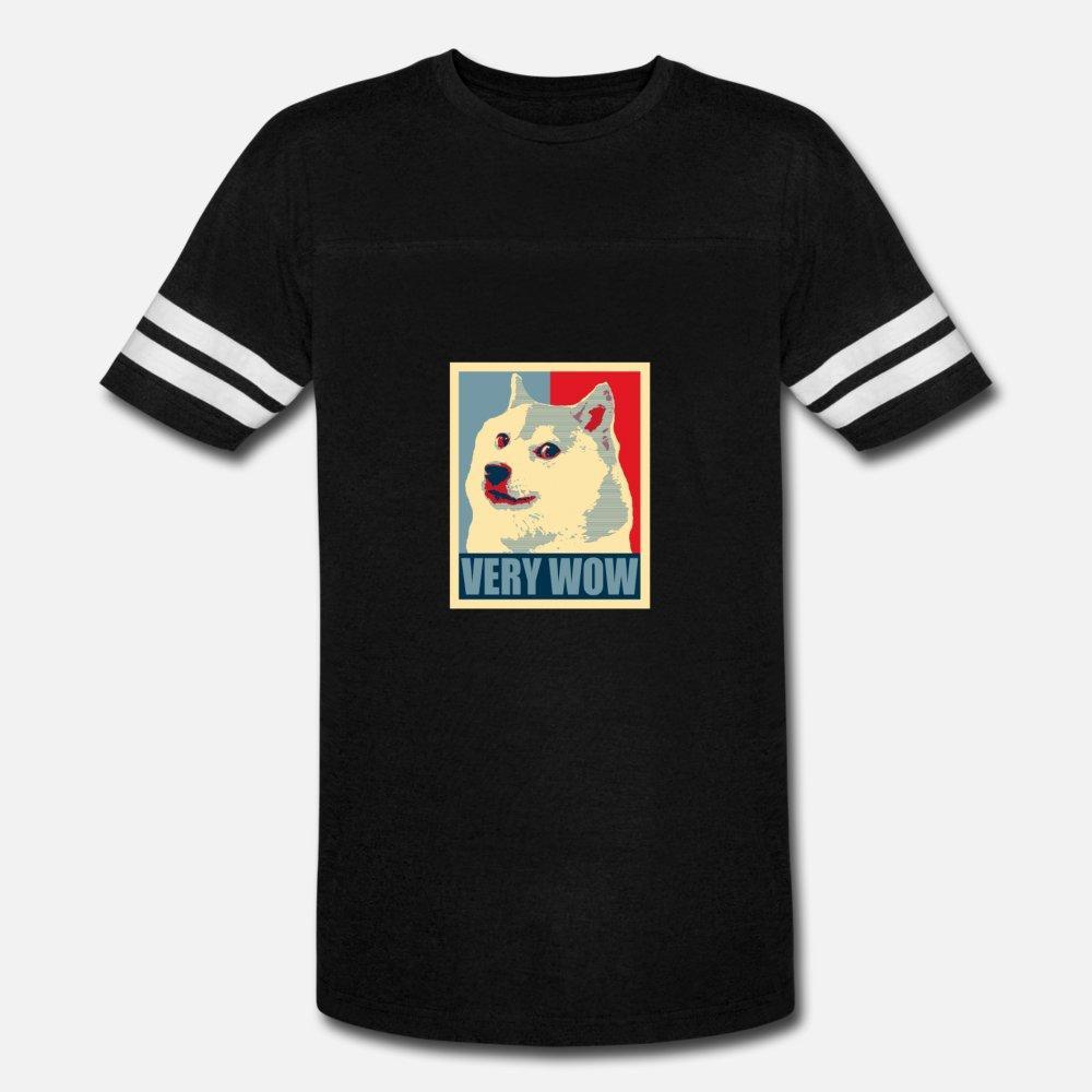 Muy divertido Wow Dux Meme dogecoin criptomoneda camiseta de los hombres del diseño 100% algodón O-Cuello Normal En forma patrón de la camisa de Primavera Casual