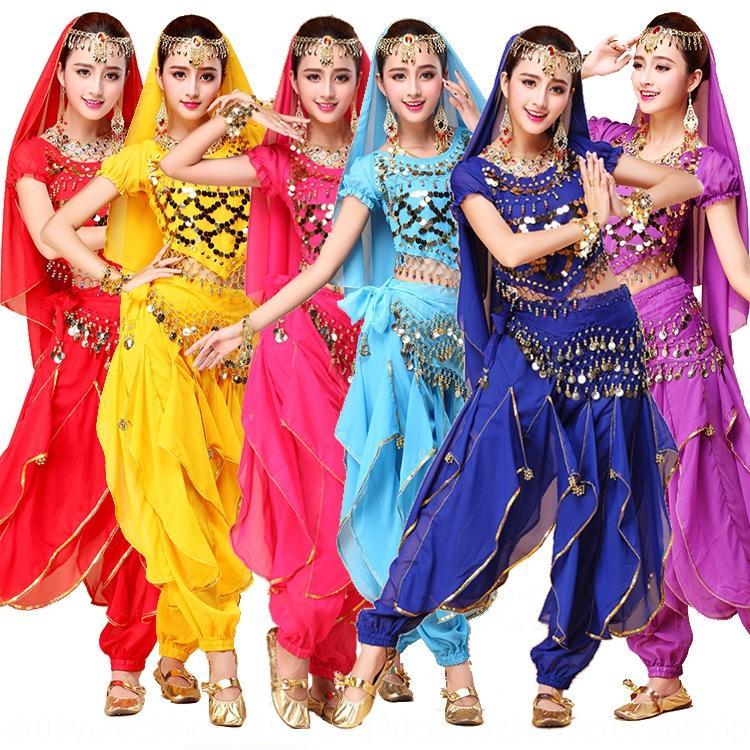 vêtements de danse du ventre costume de danse indienne nouveau pantalon femmes costume costume performance scénique de performance costume adulte La pratique de rotation Y6INY
