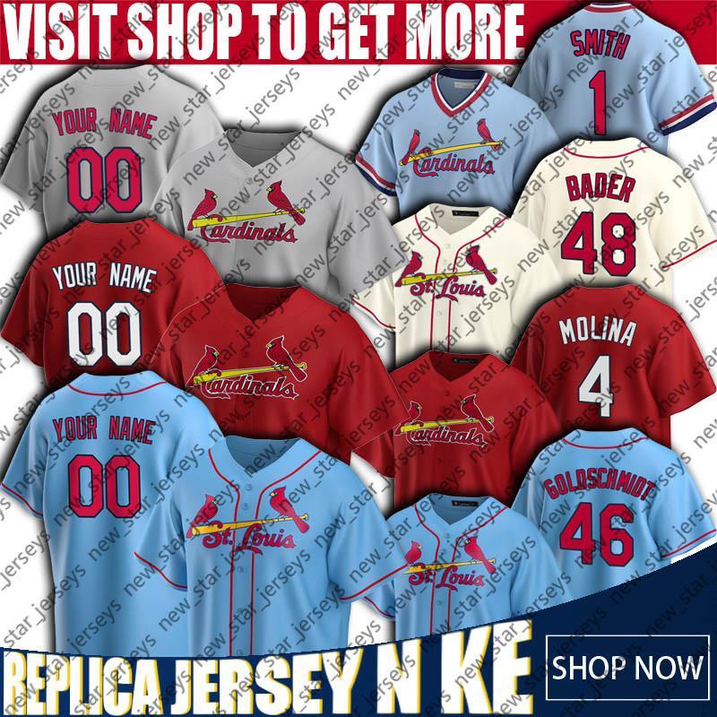 46 Paul Goldschmidt Jersey St. Louis Custom Cardeal Baseball 4 Yadier Molina Jerseys Ozzie Smith Dexter Fowler Carpenter Jack Flaherty