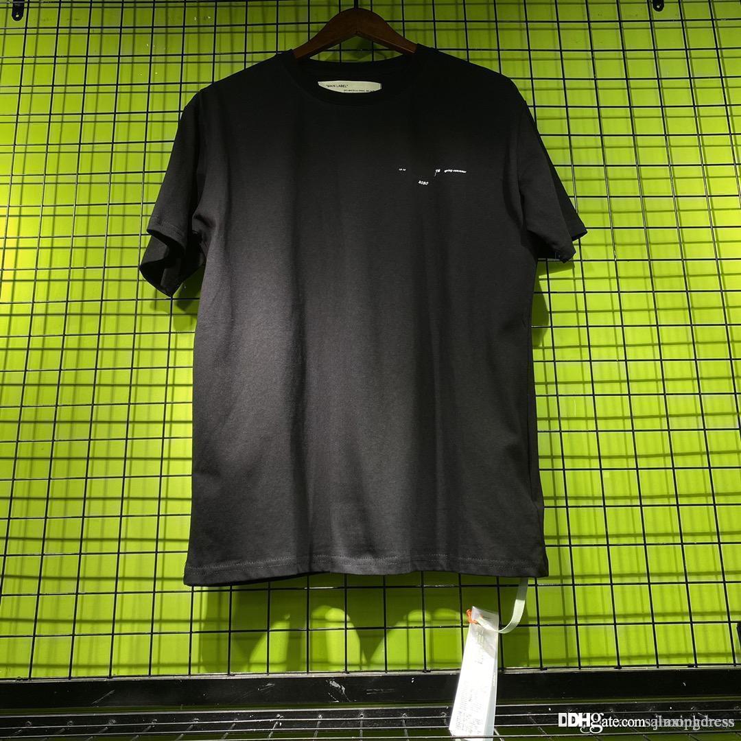 Mens été t-shirt manches courtes Nouveaux tops de bonne qualité coton chemises OFF Noir Whiter unisexe Homme Taille S été Clothings-XL