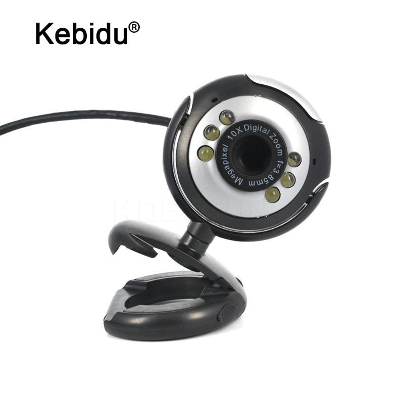 USB 30M HD Camera com microfone 30 Mega Pixel Web Cam 6 LED HD Webcam Câmara MIC para PC portátil
