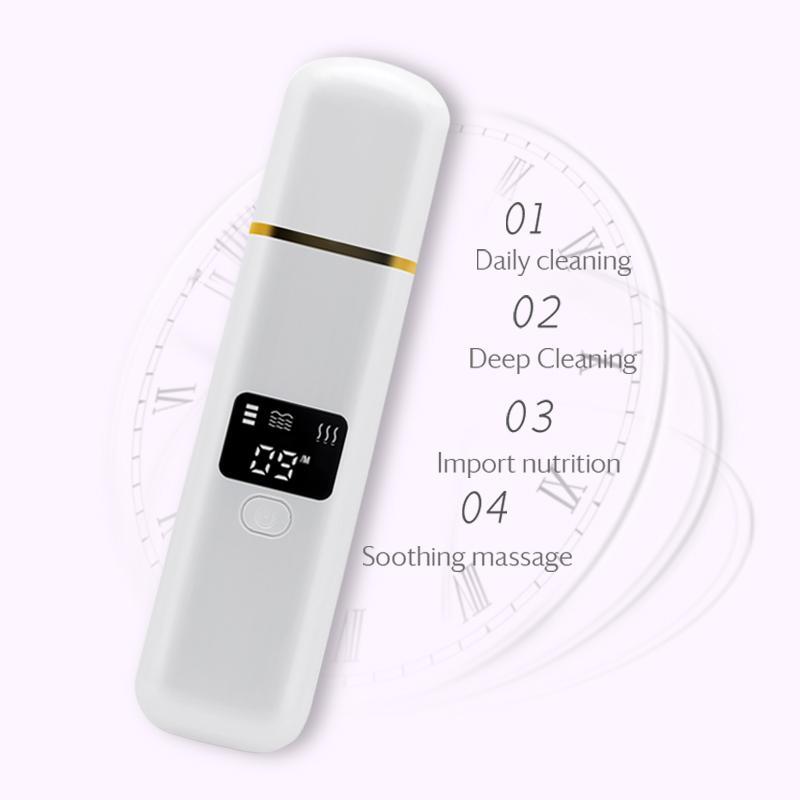 beauté professionnelle laveur peau ultrasons visage ccleaning Nettoyant à ultrasons extraction des comédons peau machine de traitement de l'acné Scrubber