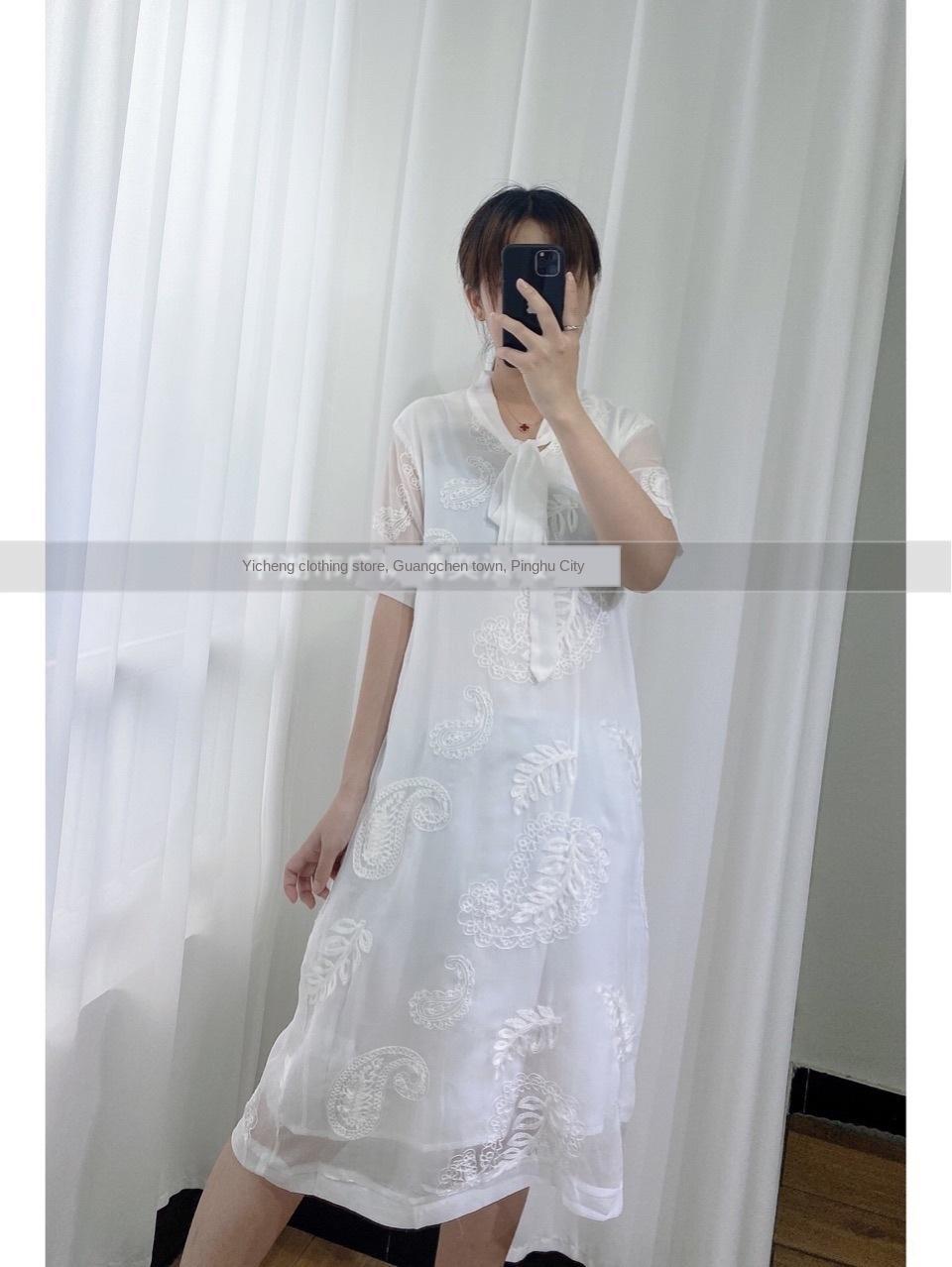 JzHlW QxpZ7 textura quadrado bolha gola manga jacquard Francês verão cintura alta linha A- branco vestido novo linha A- vestido LYQ0726X