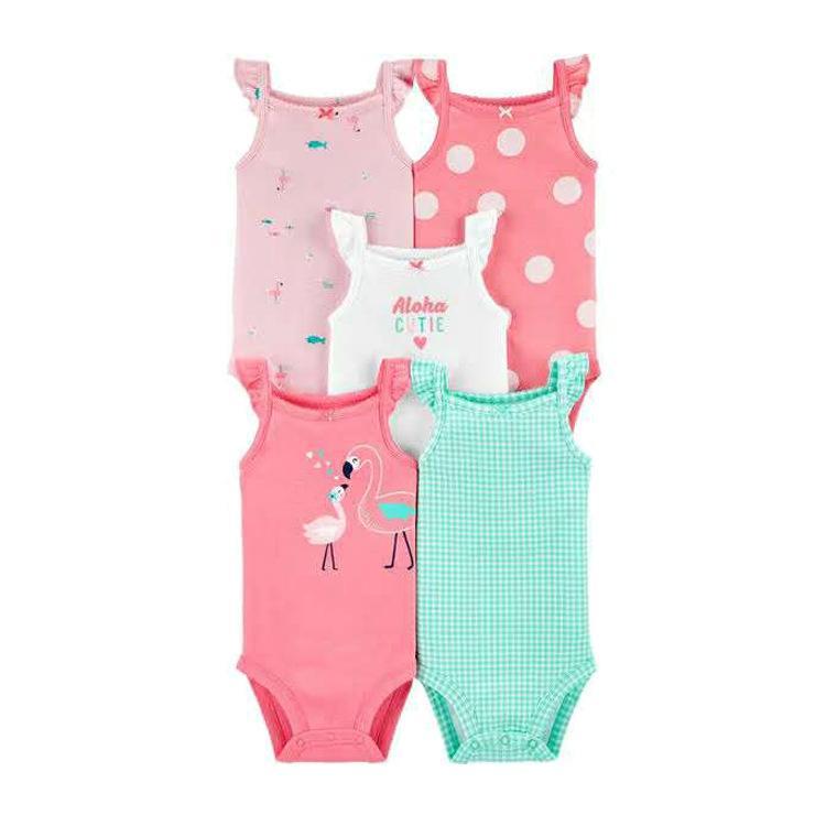2020 Çocuk Giyim Yaz Yeni Bebek Pamuk Üçgen Romper Beş parçalı Bebek Fart Romper DHL Kısa kollu