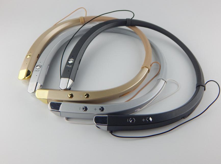 Hbs 913 Hbs913 V4 .1 Bluetooth Wireless Headphones cuffia stereo auricolare con archetto da collo Mic per il cellulare rilievo del calcolatore 30pcs / Lot semplice Opp Pac