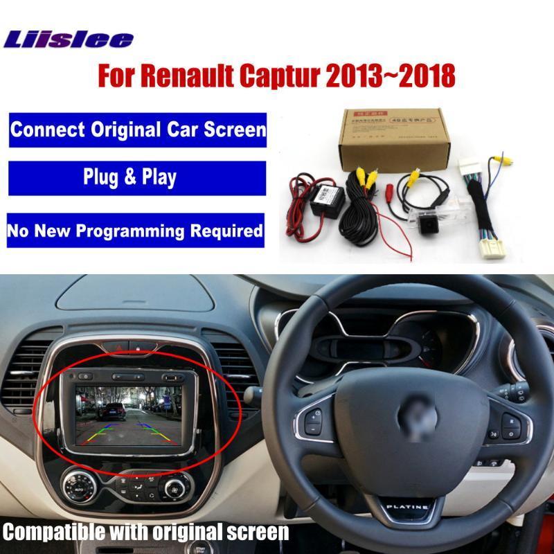 자동차 후면보기 후진 카메라를 들어 CAPTUR 2013 2014 2020 2020 원본 화면 RCA 비디오 어댑터 커넥터