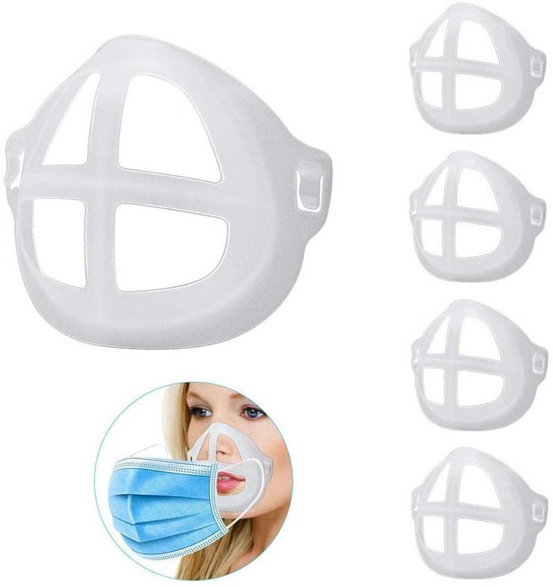 3D Mask Support Frame PP Mask Bracket for Lipstick Protection Soft Comfortable Breathing Washable Reusable Face Masks Support AAB1957