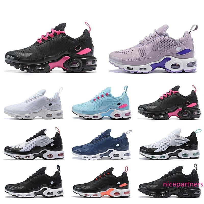 2020 Новый TN плюс Мужчины женщин кроссовки Тройной черный желтый Обувь Tn Обучение Спортивные мужские Кроссовки Кроссовки Zapatos 36-45