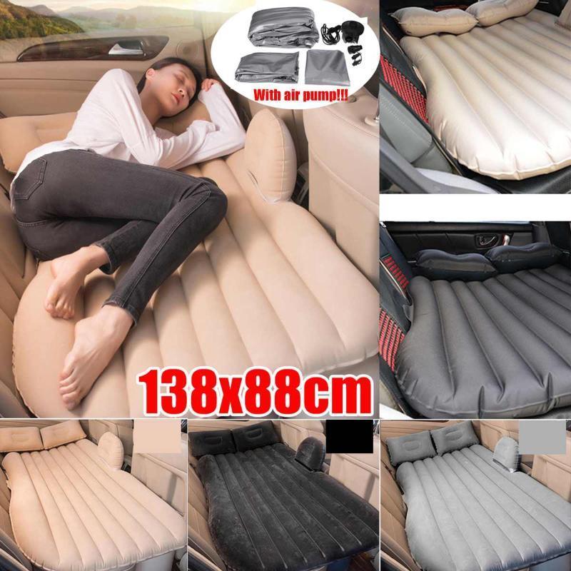 Мультифункциональная воздух автомобиль Надувной Back Seat Travel Кровать Матрас воздух Кровать Диван Подушка Открытого Отдых Мат Подушка