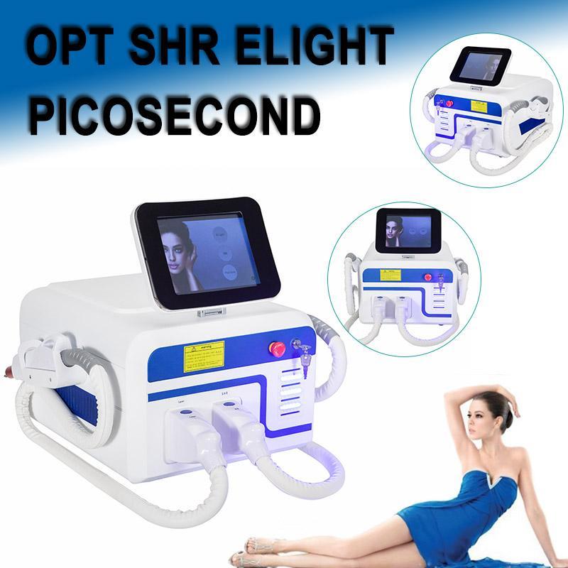 2020 Медицинский класс удаление удаление пикосекундная лазерная машина татуировки пигмент неавтоматического SHR IPL лазер IPL омоложение кожи машина